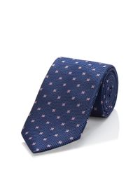 BOSS - Blue 'tie 7.5 Cm' | Regular, Silk Pin Dot Tie for Men - Lyst