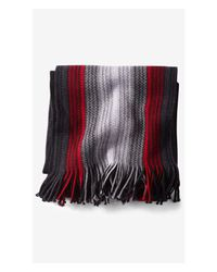 Express - Red Merino Wool Ombre Stripe Scarf for Men - Lyst