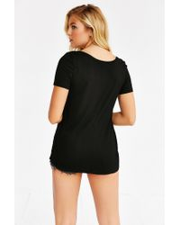 Truly Madly Deeply | Black Mandi Scoopneck Tee | Lyst