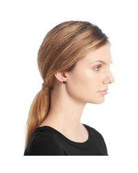 COACH - Blue Cushion Cut Stud Earrings - Lyst