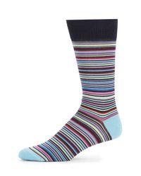 Jared Lang - Multicolored Stripe Cotton-blend Socks for Men - Lyst