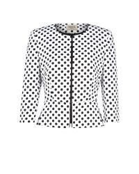 Precis Petite | White Ottoman Polka Dot Jacket | Lyst