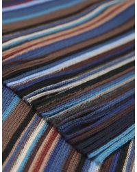 Jules B - Blue Multi Stripe Wool Scarf for Men - Lyst