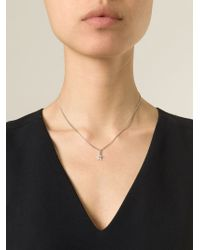 Saint Laurent | Metallic Star Pendant Necklace | Lyst