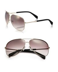 Marc By Marc Jacobs | Metallic Gradient 63mm Aviator Sunglasses | Lyst