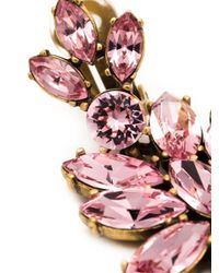 Oscar de la Renta | Pink Bold Teardrop Crystal-embellished Clip-on Earrings | Lyst