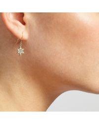 John Lewis - Metallic Pave Snowflake Drop Earrings - Lyst