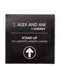 ALEX AND ANI - Metallic Stand Up To Cancer Ii Expandable Wire Bangle, Charity By Design Collection - Lyst