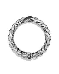 David Yurman - Metallic Hampton Cable Narrow Bracelet With Diamonds - Lyst