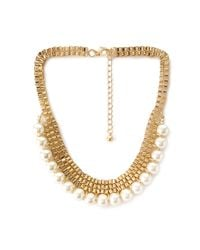 Forever 21 | Metallic Faux Pearl Choker Necklace | Lyst