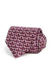 Ferragamo | Purple Horse Classic Tie for Men | Lyst