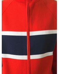 Jil Sander Navy - Blue Striped Sweatshirt - Lyst