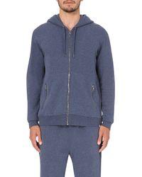 Derek Rose | Blue Devon Cotton-jersey Hoody for Men | Lyst