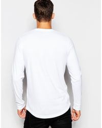 Hollister | White Long Sleeved T-shirt With '' Print for Men | Lyst