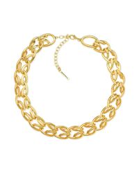 T Tahari | Metallic Chain Link Necklace | Lyst