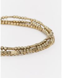 Pieces | Metallic Nanny Anklet | Lyst