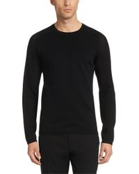 HUGO | Black Regular Fit Sweater In Cotton: 'sholes' for Men | Lyst