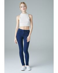 Forever 21 | Blue The Sunset Mid Rise Jean | Lyst