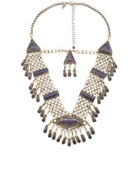 Natalie B. Jewelry | Metallic Haya Necklace | Lyst