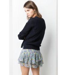 Mango   Multicolor Ruffled Floral Mini Skirt   Lyst