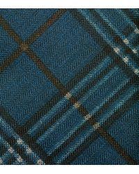 Cole Haan | Blue Benson Printed Plaid Tie for Men | Lyst