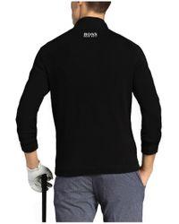 BOSS Green | Black Sweater 'zayo_mk' In Cotton Blend for Men | Lyst