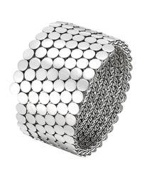 John Hardy | Metallic Dot Silver Multiple Coil Bracelet | Lyst