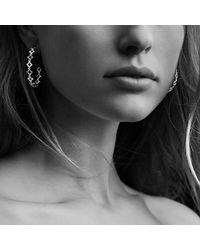 David Yurman   Metallic Venetian Quatrefoil Hoop Earrings With Diamonds In Gold   Lyst