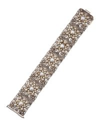 Konstantino - White 7sectioned Pearl Bracelet - Lyst