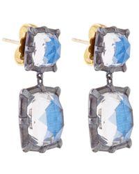 Larkspur & Hawk | Blue Silver Quartz Bella Double Drop Earrings | Lyst