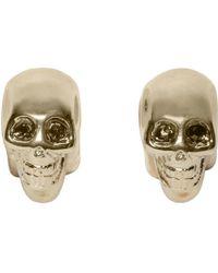 Givenchy - Metallic Brass Skull Magnetic Earrings - Lyst