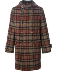 Barena - Multicolor Hooded Tartan Coat - Lyst