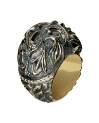 Queensbee - Metallic Gothic Lily Ring - Lyst