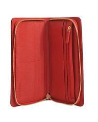 Michael Kors - Red Hamilton Flap Wallet - Lyst