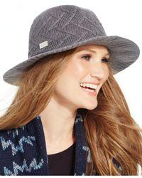 Calvin Klein | Gray Knit Panama Hat | Lyst