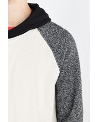 BDG - Black Speckled Colorblocked Pullover Hoodie Sweatshirt for Men - Lyst