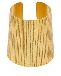 Herve Van Der Straeten | Metallic Gold-Plated Etched Cuff | Lyst
