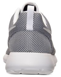 Nike - Gray Men'S Roshe Run Casual Sneakers From Finish Line for Men - Lyst