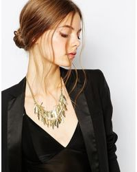 Coast - Metallic Snowy Necklace - Lyst