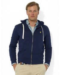 Polo Ralph Lauren | Blue Full-Zip Fleece Hoodie for Men | Lyst