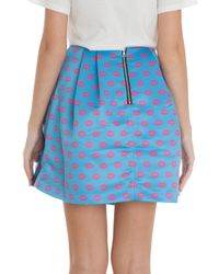 Markus Lupfer | Blue Smacker Lip Kat Mini Skirt | Lyst