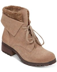 Lucky Brand | Natural Women's Huntress Lace-up Sweater Booties | Lyst