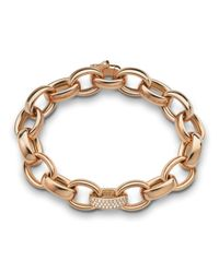 Monica Rich Kosann | Pink 18k Rose Gold Marilyn Link Bracelet | Lyst