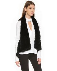 H Brand - Indie Fur Vest - Black - Lyst