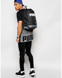 PUMA - Black Longline T-shirt With Back Print for Men - Lyst
