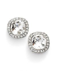 Givenchy | Metallic Pave Stud Earrings | Lyst