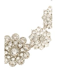 Oscar de la Renta - Metallic Crystal Necklace - Lyst