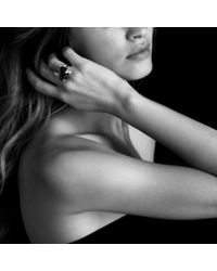 David Yurman | Green Cushion On Point Ring with Prasiolite and Diamonds | Lyst
