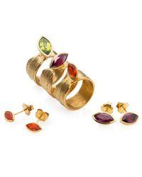Ilene Steele Jewellery - Green Large Wave Ring Peridot - Lyst