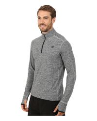 New Balance | Gray Space Dye Quarter Zip for Men | Lyst